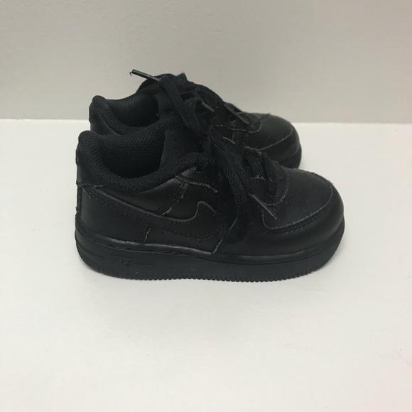 da85b13803384 Nike Shoes | Air Force 1 Baby Boy Size 5 Black On Black | Poshmark